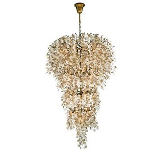 Eurofase Lighting 29062 Campobasso 33 Light Chandelier with Hand Strung Glass Wafers