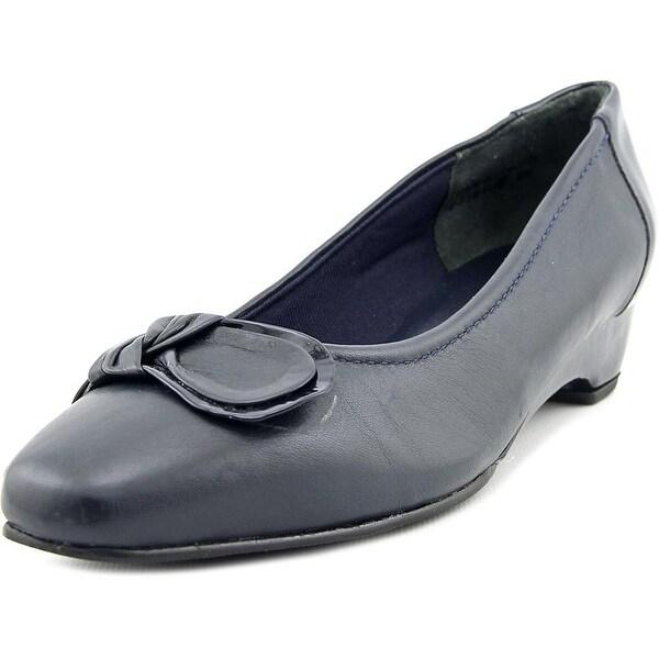 Mark Lemp By Walking Cradles Bean Women Open Toe Leather Wedge Sandal