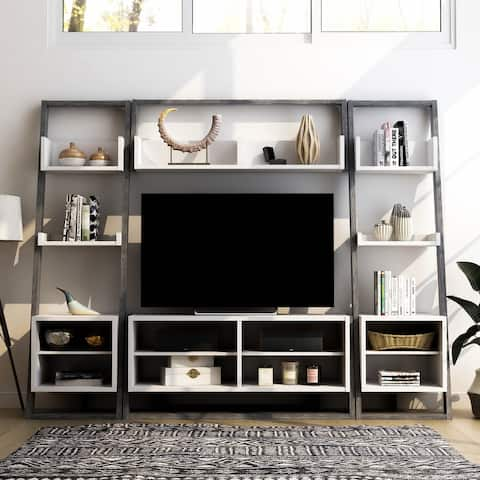 Furniture of America Isabelle Mid-Century 4-piece Entertainment Set