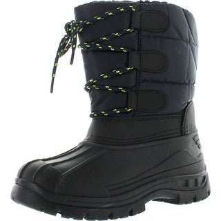 Snow Tec Boys Winter Waterproof Cold Weather Blizz4 Kids Snow Boots - Navy