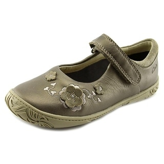 Clarks Hoola Game Youth Round Toe Leather Brown Mary Janes
