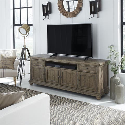 Harvest Home Barley Brown 75-inch 2-drawer TV Console