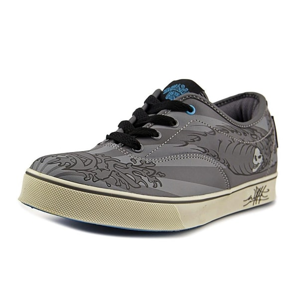 Bulldog Art Tribal Wave Men Gray Sneakers Shoes