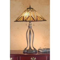 Meyda Tiffany 66226 Stained Glass / Tiffany Table Lamp from the Mission Collection - n/a