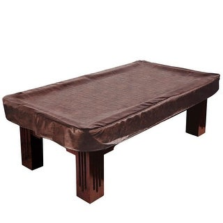 9-Foot Brown Leatherette Billiard Table Cover