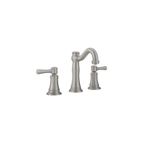 Mirabelle MIRWSCSM800 St. Martin 1.2 GPM Widespread Bathroom Faucet with Pop-Up Drain Assembly