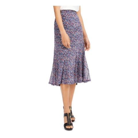 MICHAEL KORS Navy Below The Knee Skirt XL