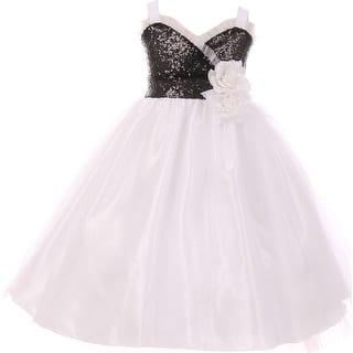 Flower Girl Dress Sequin Bodice Ruffle Bias Trim White KK 6411 (Option: 4)|https://ak1.ostkcdn.com/images/products/is/images/direct/3ac2d4ca8b79e716910da619a869047e758348d1/Flower-Girl-Dress-Sequin-Bodice-Ruffle-Bias-Trim-White-KK-6411.jpg?impolicy=medium