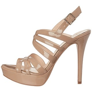 Jessica Simpson Womens Binnie Open Toe Ankle Strap Platform Pumps