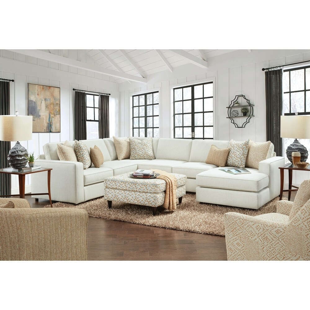Invitation Linen Armless Sleeper Sectional Sofa