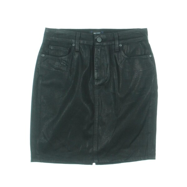 Paige Womens Denim Skirt Cotton Metallic