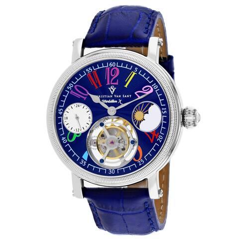 Christian Van Sant Men's Tourbillon X Limited Edition Blue Dial Watch - CV0992