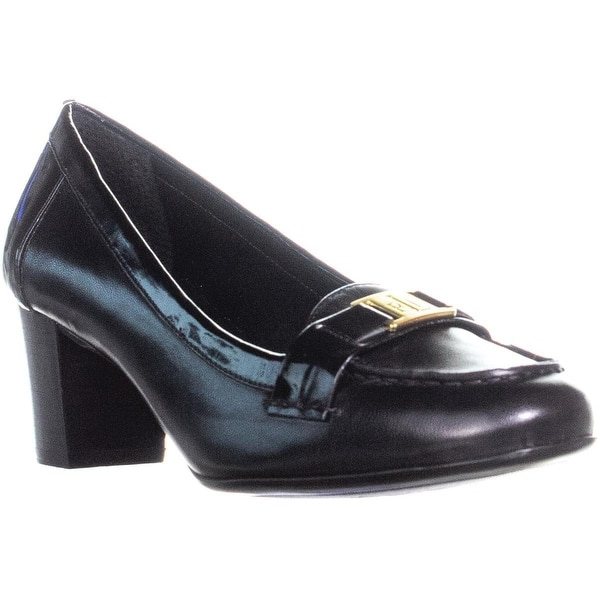 df928c58267 Shop Lauren Ralph Lauren Tatum Block Heel Pumps, Black - Free ...