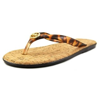 Michael Michael Kors Jet Set MK Jelly Women Synthetic Brown Flip Flop Sandal