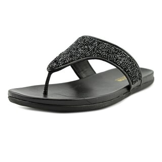 Kenneth Cole Reaction Great Time Women Open Toe Synthetic Black Thong Sandal