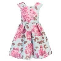 94df0da519d Shop Sweet Kids Girls Blue 3D Floral Print Cap Sleeve Easter Dress ...