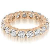 4.25 cttw. 14K Rose Gold Round Diamond Eternity Ring