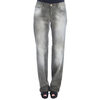 Ermanno Scervino Ermanno Scervino Gray Cotton Blend Loose Fit Boyfriend Jeans - w26