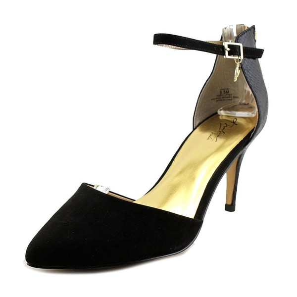 Thalia Sodi Vanesssa Women Black Snake Pumps