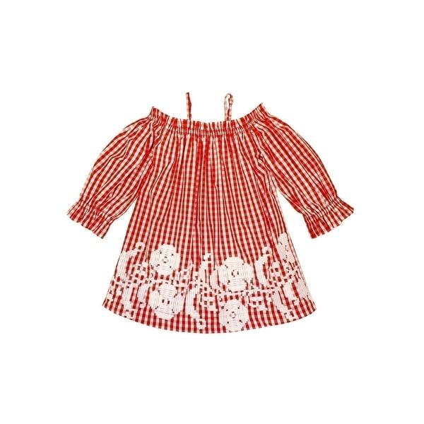 72a63858c Shop Sophie Catalou Little Girls Red White Gingham Embroidered Kara ...