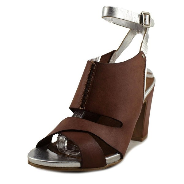 Sixtyseven 75745 Women Open-Toe Leather Brown Slingback Heel