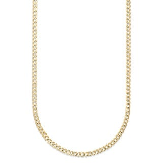 Link to Pori Jewelers 14k Solid Gold Cuban Chain Necklace Similar Items in Necklaces