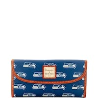 Dooney & Bourke NFL Seattle Seahawks Continental Clutch Wallet (Introduced by Dooney & Bourke at $128 in Aug 2016)