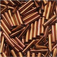 Toho Bugle Tube Beads Size 3 2x9mm Burnished Bronze 10 Grams
