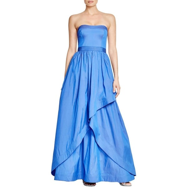Adrianna Papell Womens Formal Dress Illusion Layered Look