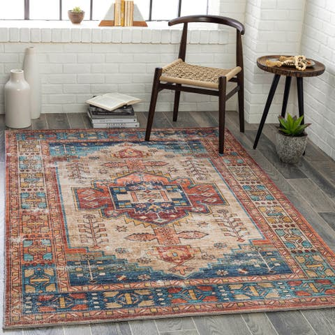 Rosalynd Persian Medallion Printed Area Rug