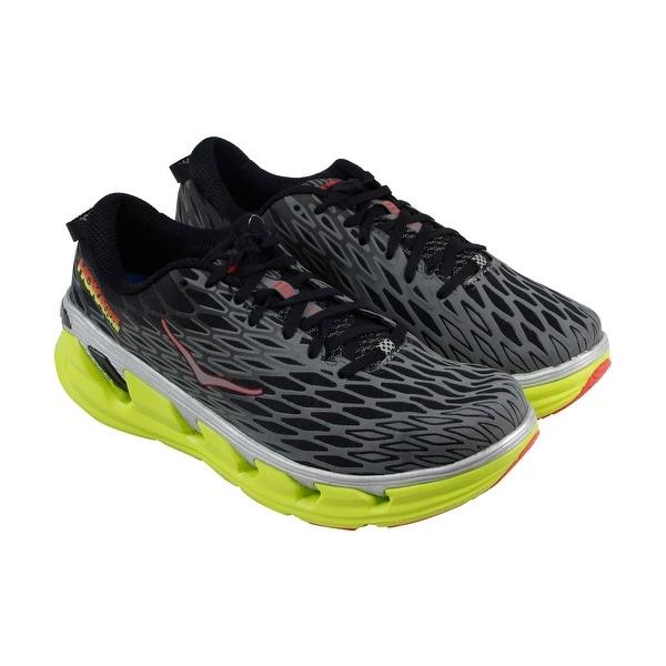 Hoka One One Vanquish 2 Mens Black Mesh Athletic Lace Up Training Shoes
