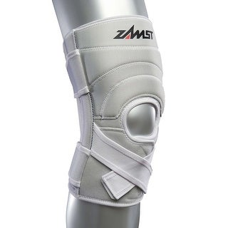 Zamst ZK-7 Injury/Prevention Large White Knee Brace with Strong Support
