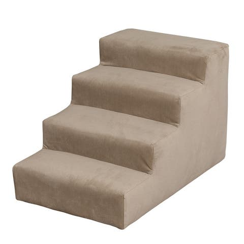 Leffler Home Duke Upholstered Pet Steps in Portsmouth Stone