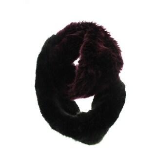 Dena Womens Faux Fur Colorblock Infinity Scarf - o/s