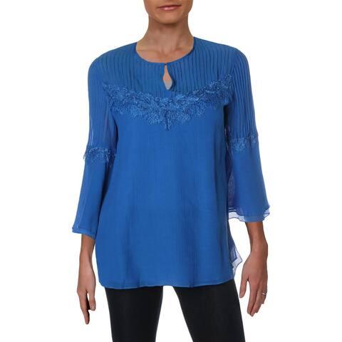 Kobi Halperin Womens Jaya Blouse Bell Sleeve Lace