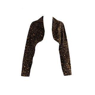 Laundry By Shelli Segal Brown Multi Animal-Print Bolero Jacket - 0