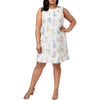 Link to Calvin Klein Womens Plus Party Dress Sleeveless Embroidered Similar Items in Women's Plus-Size Clothing