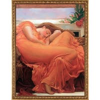 Lord Frederic Leighton 'Flaming June' Hand Painted Oil Reproduction