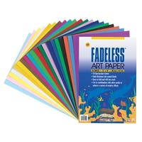 Fadeless Art Paper, 50 lb., 12 x 18 Inches, Multiple Colors, 20 Sheets