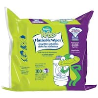 Kandoo Flushable Cleansing Wipes, Refill, Magic Melon Scent, 100 Count