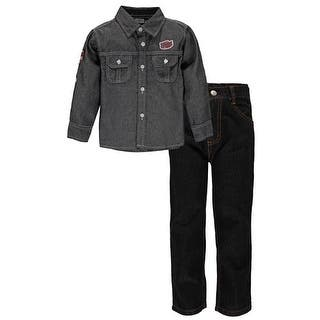 Quad Seven Boys 2T-4T ''Industrial'' Denim Woven Pant Set|https://ak1.ostkcdn.com/images/products/is/images/direct/3acc62736bd9f1edb0aa9e1fd82245f265b82caf/Quad-Seven-Boys-2T-4T-%27%27Industrial%27%27-Denim-Woven-Pant-Set.jpg?impolicy=medium