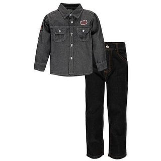 Quad Seven Boys 2T-4T ''Industrial'' Denim Woven Pant Set