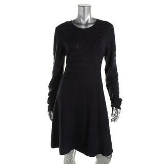 Eliza J Womens Knit Pattern Sweaterdress - M