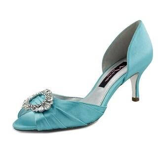 Nina Crystah Open Toe Canvas Sandals