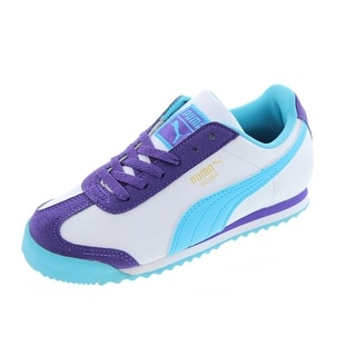 Puma Girls Roma Flower Colorblock Casual Shoes - 1.5