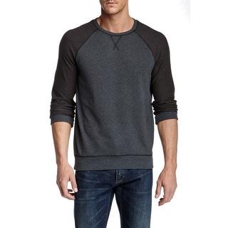 Nordstrom NEW Deep Black Raven Mens Size XL Colorblock Crewneck Sweater