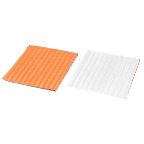 Aluminum Foil Square Chocolate Candy Baking Packaging Tinfoil Paper Orange 50pcs