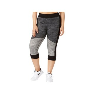 Calvin Klein Performance Womens Plus Capri Pants Colorblock Fitness