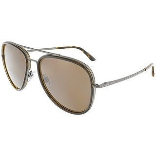 Giorgio Armani Men's AR6039-300373-56 Grey Aviator Sunglasses