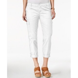 Tommy Hilfiger NEW White Women's Size 8X23 Cuffed Capris Cropped Pants